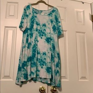 T-shirt cotton flare dress. L
